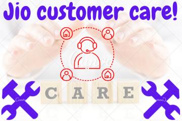 Jio customer care!