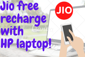 Jio free recharge with laptop!