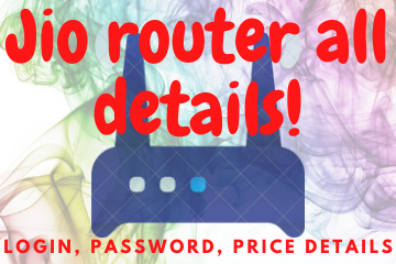 Jio router all details