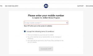 Jiomart mobile number